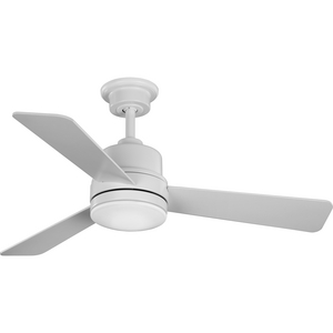 "Trevina II Collection 44"" Three-Blade Satin White Ceiling Fan"