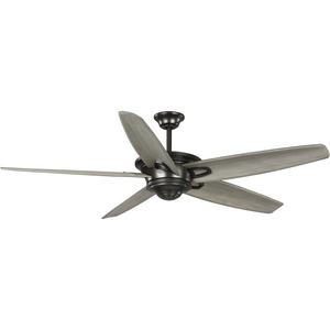 Caleb Collection 68-Inch 5-Blade Antique Bronze AC Motor Transitional Ceiling Fan