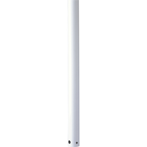 AirPro Collection 12 In. Ceiling Fan Downrod in White