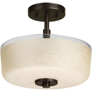 "Alexa Collection Two-Light 12-1/4"" Semi-Flush"