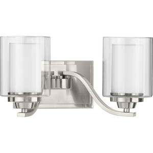 Kene Collection Brushed Nickel Two-Light Bath