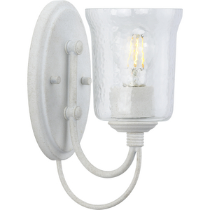 Bowman Collection Cottage White One-Light Bath