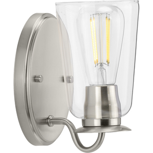 Durrell Collection Brushed Nickel One-Light Bath