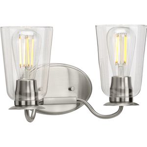 Durrell Collection Brushed Nickel Two-Light Bath