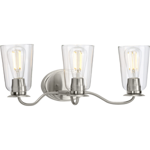 Durrell Collection Brushed Nickel Three-Light Bath