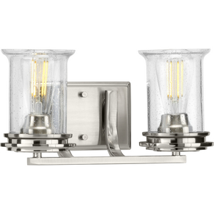 Winslett Collection Brushed Nickel Two-Light Bath