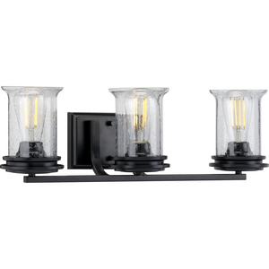 Winslett Collection Black Three-Light Bath