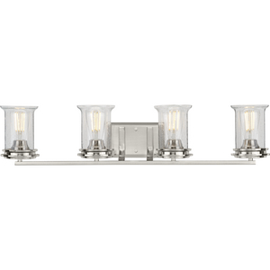 Winslett Collection Brushed Nickel Four-Light Bath