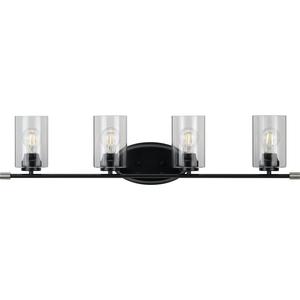 Riley Collection Black Four-Light Bath