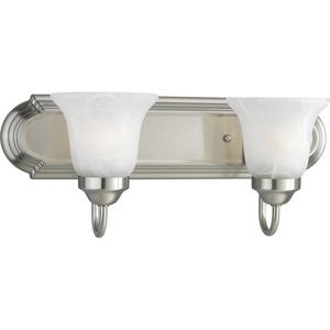 Alabaster Glass Two-Light CFL Bath & Vanity