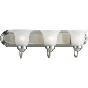 Alabaster Glass Three-Light CFL Bath & Vanity