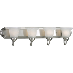 Alabaster Glass Four-Light CFL Bath & Vanity