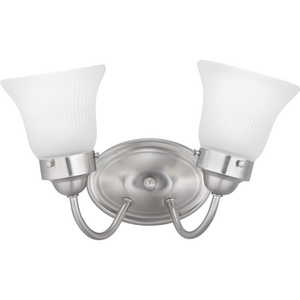 Fluted Glass Collection Two-Light Bath & Vanity