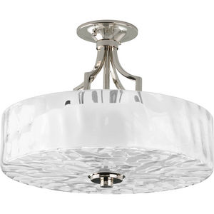 "Caress Collection Two-Light 16"" Semi-Flush Mount"