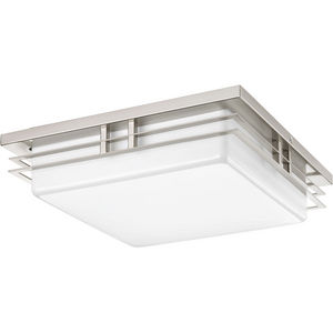 "Helm Collection Two-Light 14"" LED Flush Mount"