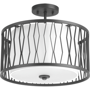"Wemberly Collection Three-Light 16"" Semi-Flush"
