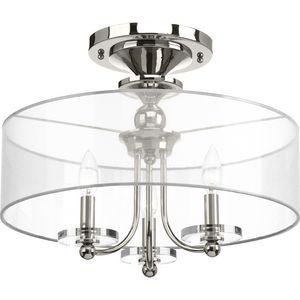 Marche' Collection Three-Light Semi-Flush Convertible