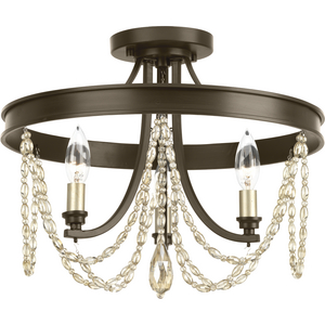 Allaire Collection Three-Light Semi-Flush Convertible