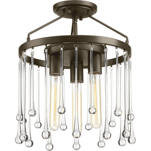 Sway Collection Three-Light Semi-Flush Convertible