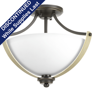 "Noma Collection Two-Light 15-5/8"" Semi-Flush Convertible"