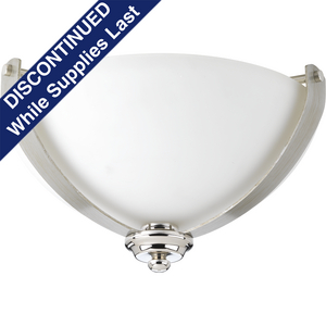 "Noma Collection Two-Light 14-3/4"" Flush Mount"