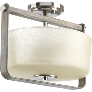 Aspen Creek Collection Two-Light Semi-Flush Convertible