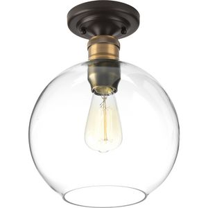 """Hansford Collection One-light 10"""" Flush Mount"""