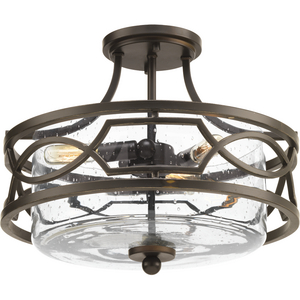 Soiree Collection Three-Light Semi-Flush Convertible