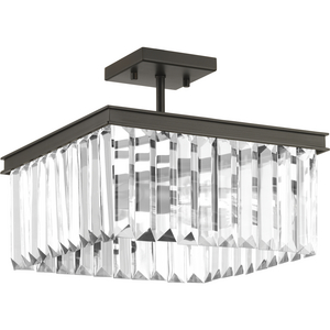 "Glimmer Collection 13-5/8"" Semi-Flush Convertible"