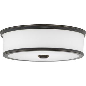 "Bezel LED Collection One-Light 16"" LED Flush Mount"