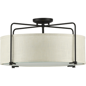 Kempsey Collection Three-Light Semi-Flush Convertible