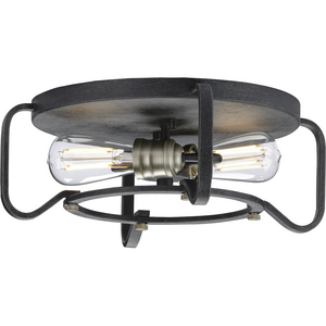 "Foster Collection 16"" Two-Light Flush Mount"