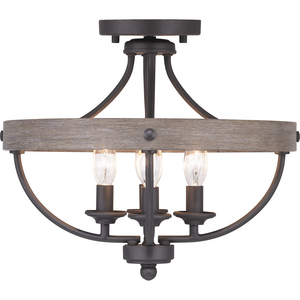 "Gulliver Collection Four-Light 14-1/4"" Semi-Flush Convertible"