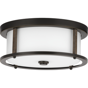 "Mast Collection Two-Light 13"" Flush Mount"