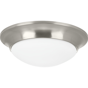 "One-Light 11-1/2"" Etched Glass Flush Mount"