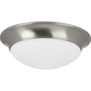 "Two-Light 14"" Etched Glass Flush Mount"
