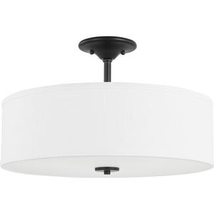 "Inspire Collection Graphite Three-Light 18"" Semi-Flush Mount"