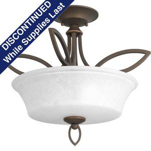 Monogram Collection Two-Light Semi-Flush Convertible