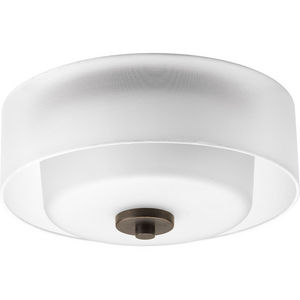 "Invite Collection Two-Light 12"" Flush Mount"