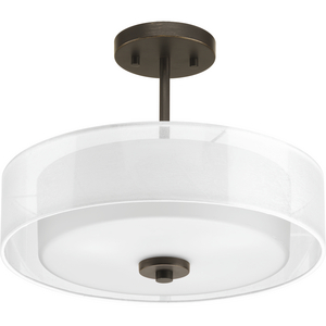 "Invite Collection Three-Light 15"" Semi-Flush Convertible"