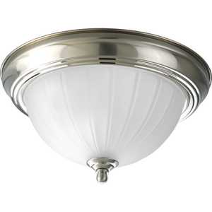 Melon Glass One- Light Flush Mount