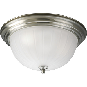 Melon Glass Three- Light Flush Mount