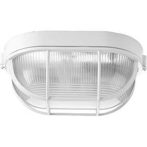 "One-Light Bulkhead 6-3/8"" Flush Mount"
