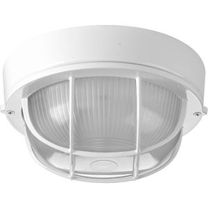 "One-Light Bulkhead 7-7/8"" Flush Mount"