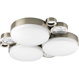 "Bingo Collection Three-Light 23"" LED Flush Mount Cluster"