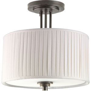 "Clayton Collection Two-Light 13"" Semi-Flush"