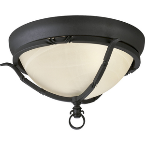 "Santiago Collection Two-Light 14-3/8"" Close-to-Ceiling"