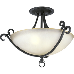 "Santiago Collection Three-Light 19-7/8"" Close-to-Ceiling"