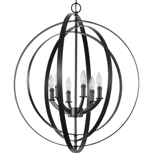 Equinox Collection Black Six-Light Sphere Pendant