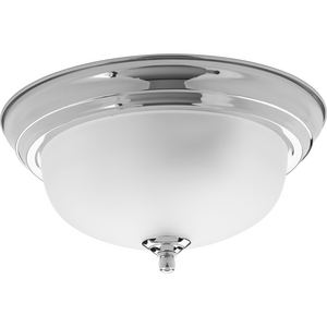 "One-Light Dome Glass 11-3/8"" Close-to-Ceiling"